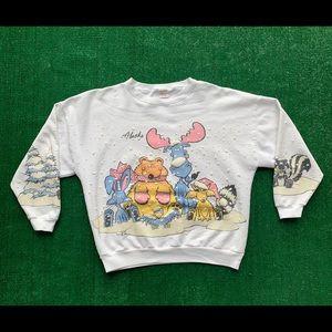 Vintage Lifestyles Alaska Poofy Moose Sweatshirt